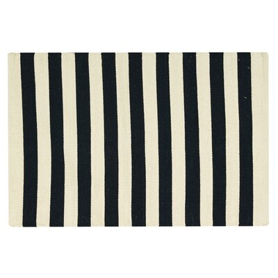 Ellsberg Doormat Color: Black, Rug Size: 2 x 3