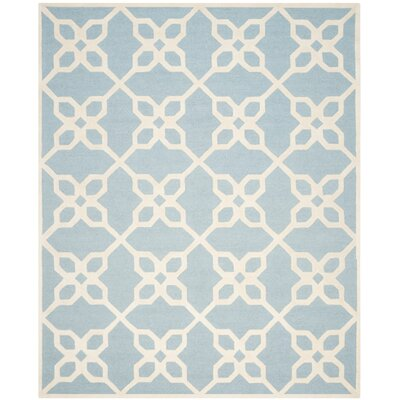 Linden Hand-Tufted Blue / Ivory Area Rug Rug Size: Rectangle 8 x 10