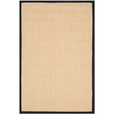 Hillsborough Maize / Black Area Rug Rug Size: 4 x 6