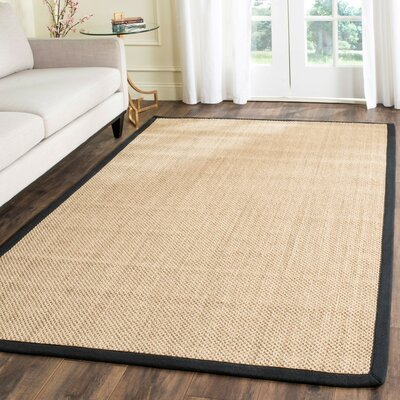 Hillsborough Maize / Black Area Rug Rug Size: Rectangle 8 x 10