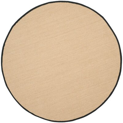 Hillsborough Maize / Black Area Rug Rug Size: Round 6