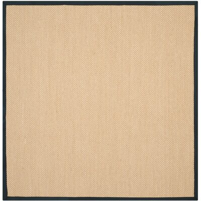 Hillsborough Maize / Black Area Rug Rug Size: Square 6