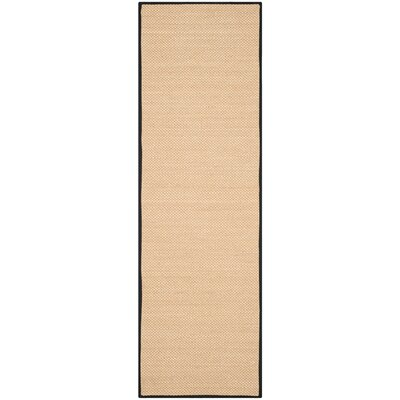 Hillsborough Maize / Black Area Rug Rug Size: Runner 26 x 8