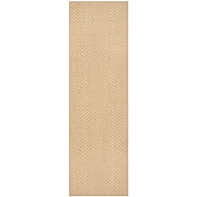 Hillsborough Maize / Linen Area Rug Rug Size: Runner 26 x 14