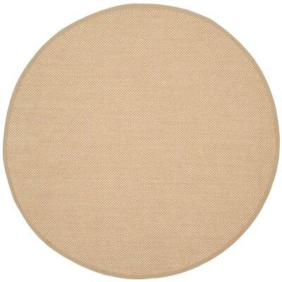 Hillsborough Maize / Linen Area Rug Rug Size: Round 6