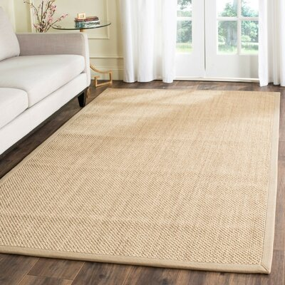 Hillsborough Maize / Linen Area Rug Rug Size: Round 8