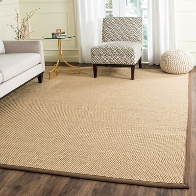 Hillsborough Maize / Brown Area Rug Rug Size: 4 x 6