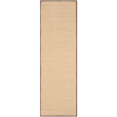 Hillsborough Maize / Brown Area Rug Rug Size: Runner 26 x 8