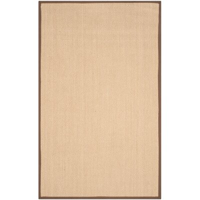 Hillsborough Maize / Brown Area Rug Rug Size: 5 x 8