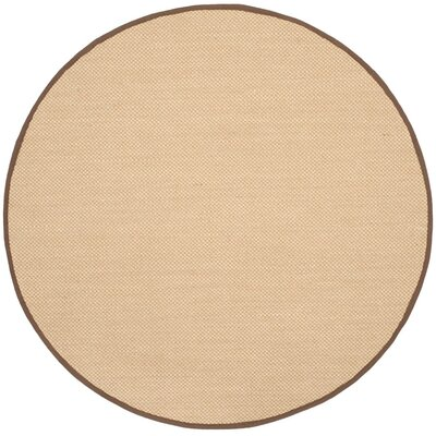 Hillsborough Maize / Brown Area Rug Rug Size: Round 4