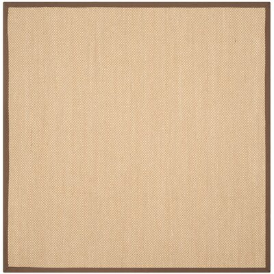 Hillsborough Maize / Brown Area Rug Rug Size: Square 6