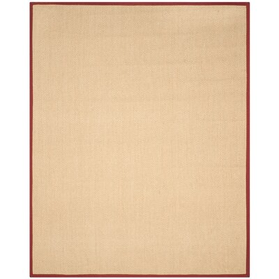Hillsborough  Beige / Burgundy Area Rug Rug Size: 8 x 10