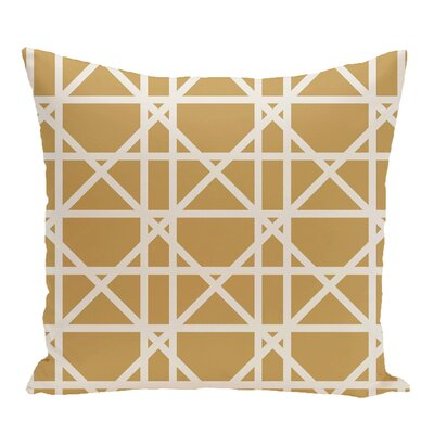 Wetherington Geometric Outdoor Throw Pillow Color: Gold