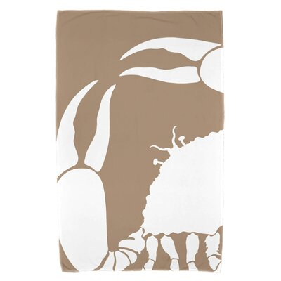 Shirley Mills Crab Dip Beach Towel Color: Taupe/Beige
