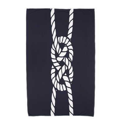 Hancock Carrick Bend Beach Towel Color: Navy Blue