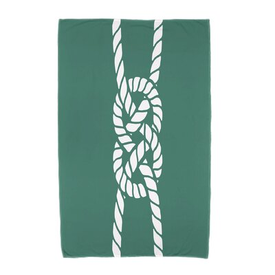 Hancock Carrick Bend Beach Towel Color: Green