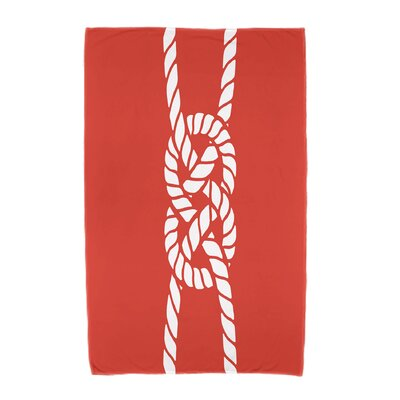 Hancock Carrick Bend Beach Towel Color: Red/Orange