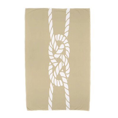 Hancock Carrick Bend Beach Towel Color: Beige/Taupe