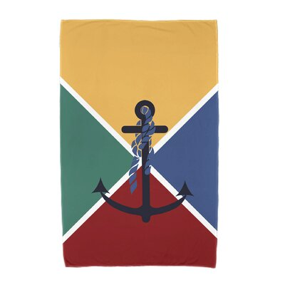 Hancock Anchor Flag Beach Towel Color: Yellow