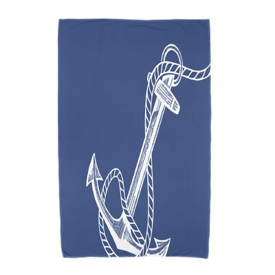 Bridgeport Anchored Beach Towel Color: Blue