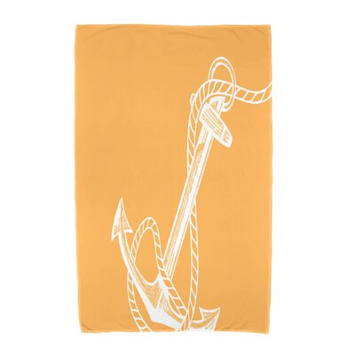 Bridgeport Anchored Beach Towel Color: Yellow