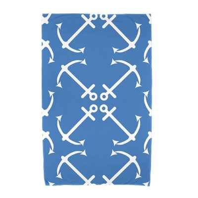 Hancock Anchors Up Beach Towel Color: Blue