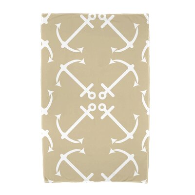 Hancock Anchor's Up Beach Towel Color: Taupe/Beige