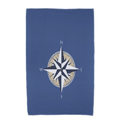 Hancock Compass Geometric Print Beach Towel Color: Blue