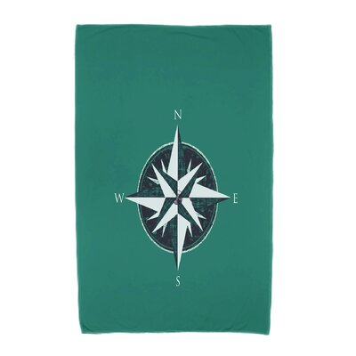 Hancock Compass Geometric Print Beach Towel Color: Green