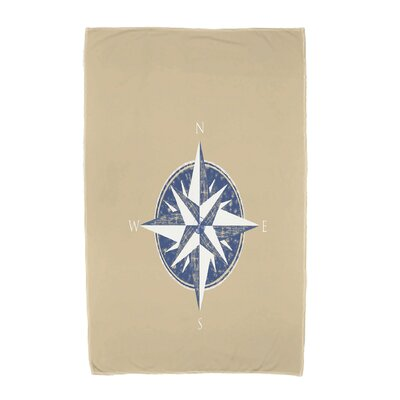 Hancock Compass Geometric Print Beach Towel Color: Taupe/Beige