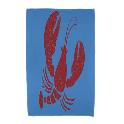 Hancock Lobster Animal Print Beach Towel Color: Blue