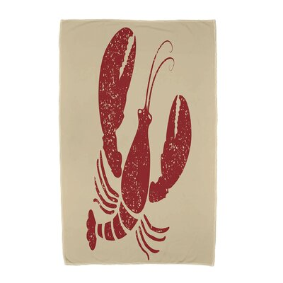 Hancock Lobster Animal Print Beach Towel Color: Taupe/Beige