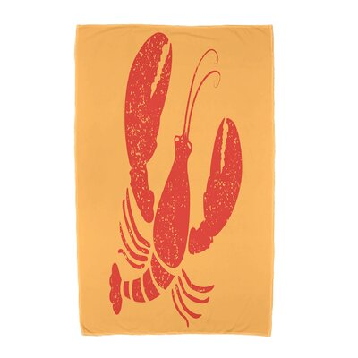 Hancock Lobster Animal Print Beach Towel Color: Yellow