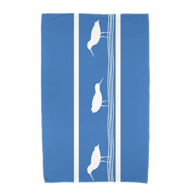 Bridgeport Birdwalk Animal Print Beach Towel Color: Blue