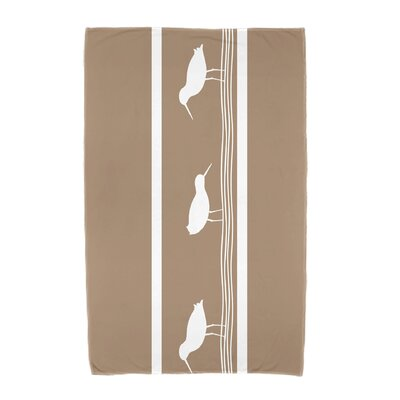 Bridgeport Birdwalk Animal Print Beach Towel Color: Taupe/Beige