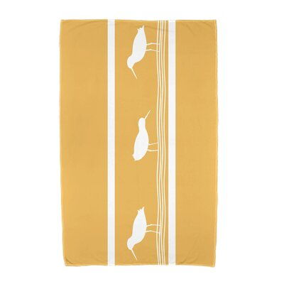 Bridgeport Birdwalk Animal Print Beach Towel Color: Yellow