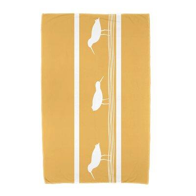 Hancock Birdwalk Animal Print Beach Towel Color: Yellow