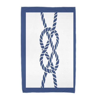 Hancock Nautical Knot Geometric Print Beach Towel Color: Blue