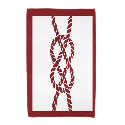 Hancock Nautical Knot Geometric Print Beach Towel Color: Red