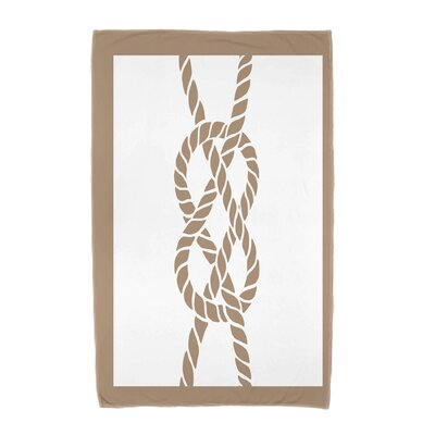Hancock Nautical Knot Geometric Print Beach Towel Color: Beige/Taupe