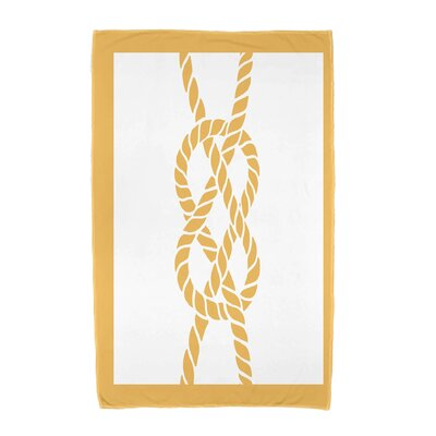 Hancock Nautical Knot Geometric Print Beach Towel Color: Yellow
