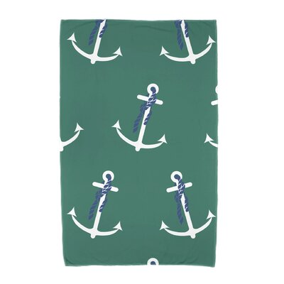 Hancock Anchor Whimsy Geometric Print Beach Towel Color: Green