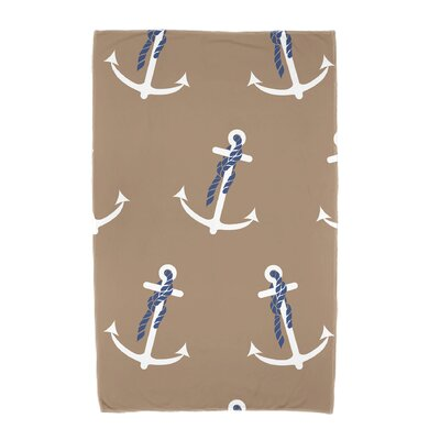 Bridgeport Anchor Whimsy Geometric Print Beach Towel Color: Taupe/Beige