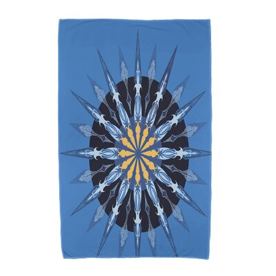Hancock Sea Wheel Geometric Print Beach Towel Color: Blue