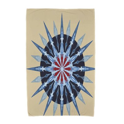 Hancock Sea Wheel Geometric Print Beach Towel Color: Taupe/Beige