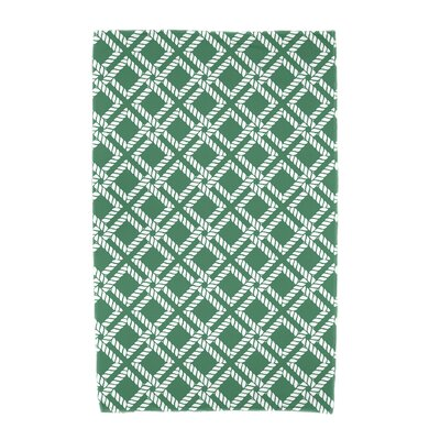 Hancock Rope Rigging Geometric Print Beach Towel Color: Green