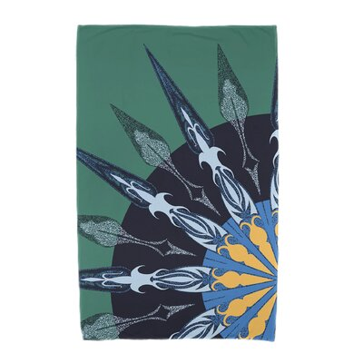 Hancock Sailors Delight Geometric Print Beach Towel Color: Green
