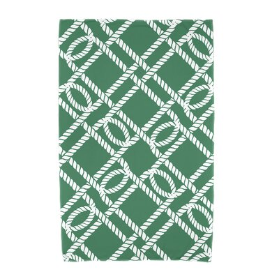 Bridgeport Know the Ropes Geometric Print Beach Towel Color: Green