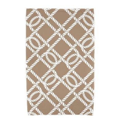 Bridgeport Know the Ropes Geometric Print Beach Towel Color: Beige/Taupe