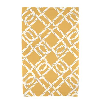 Bridgeport Know the Ropes Geometric Print Beach Towel Color: Yellow